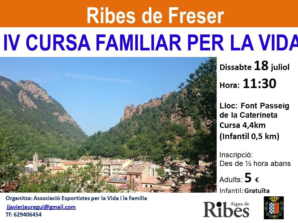 Cursa familiar per la vida Ribes de Freser