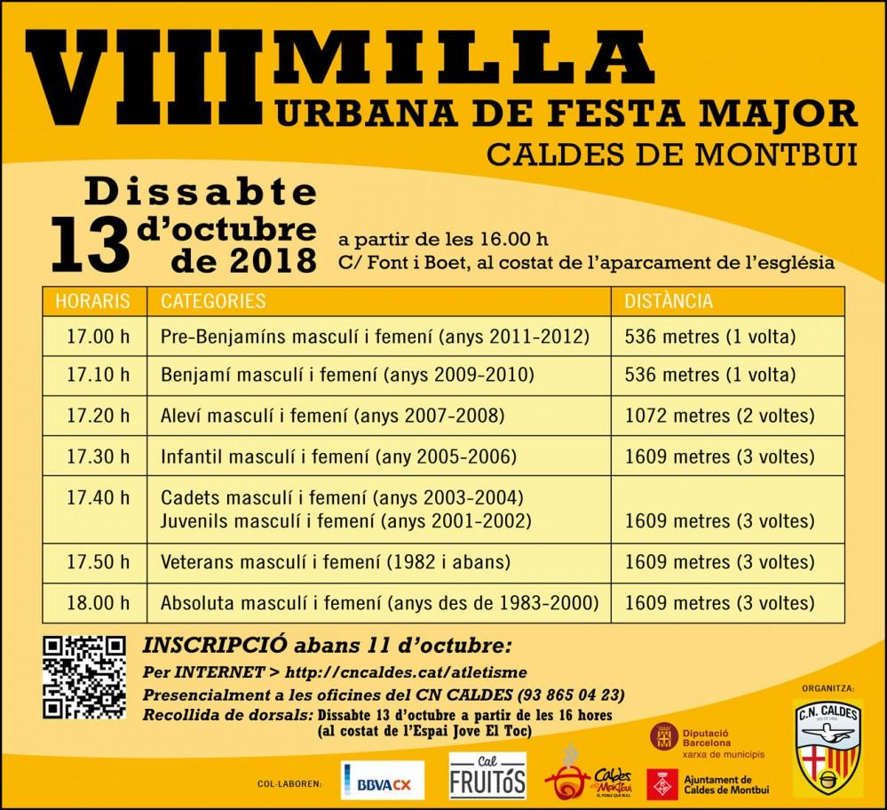 MILLA URBANA DE FESTA MAJOR CALDES DE MONTBUI